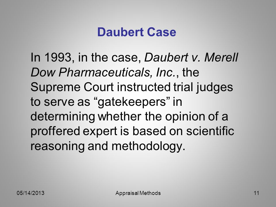 Daubert Case
