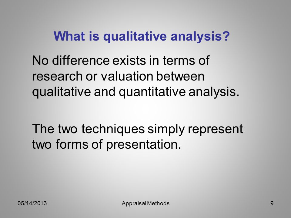 What is qualitative analysis