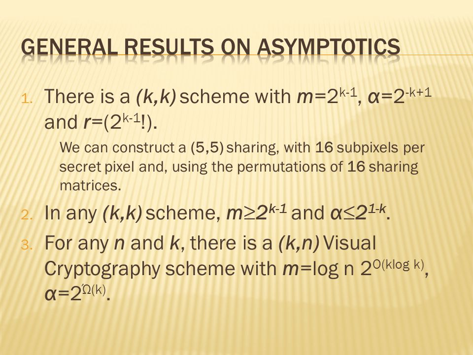 General Results on Asymptotics