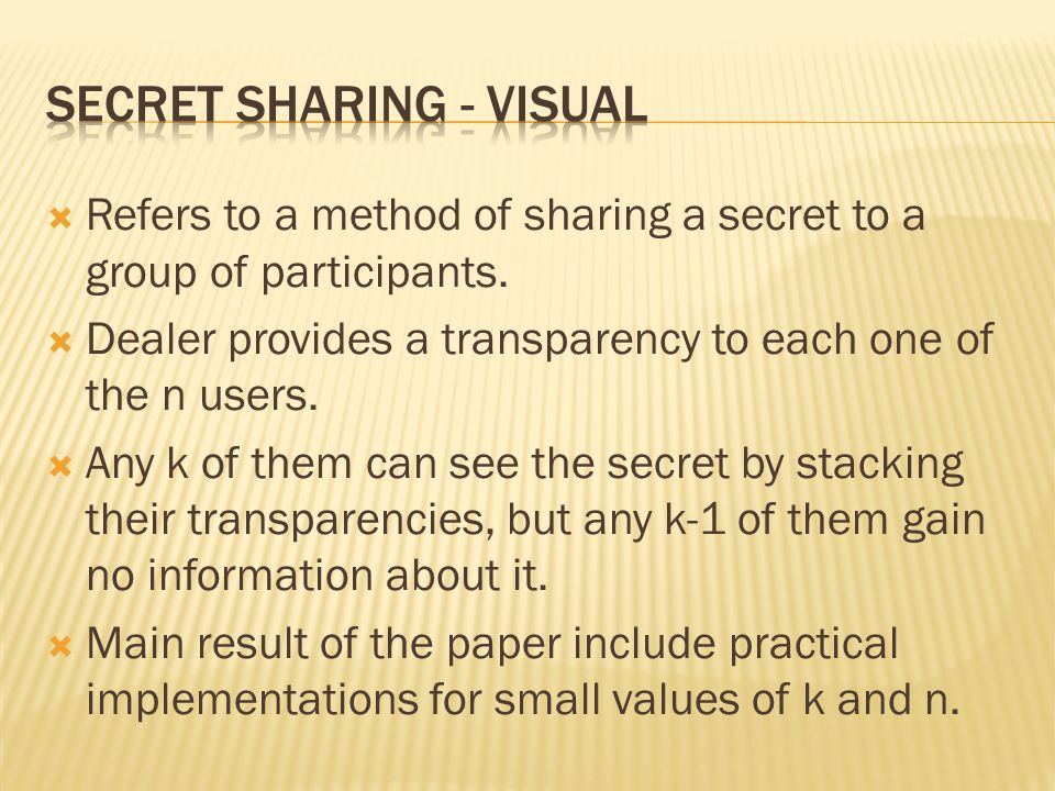 Secret Sharing - ViSUAL