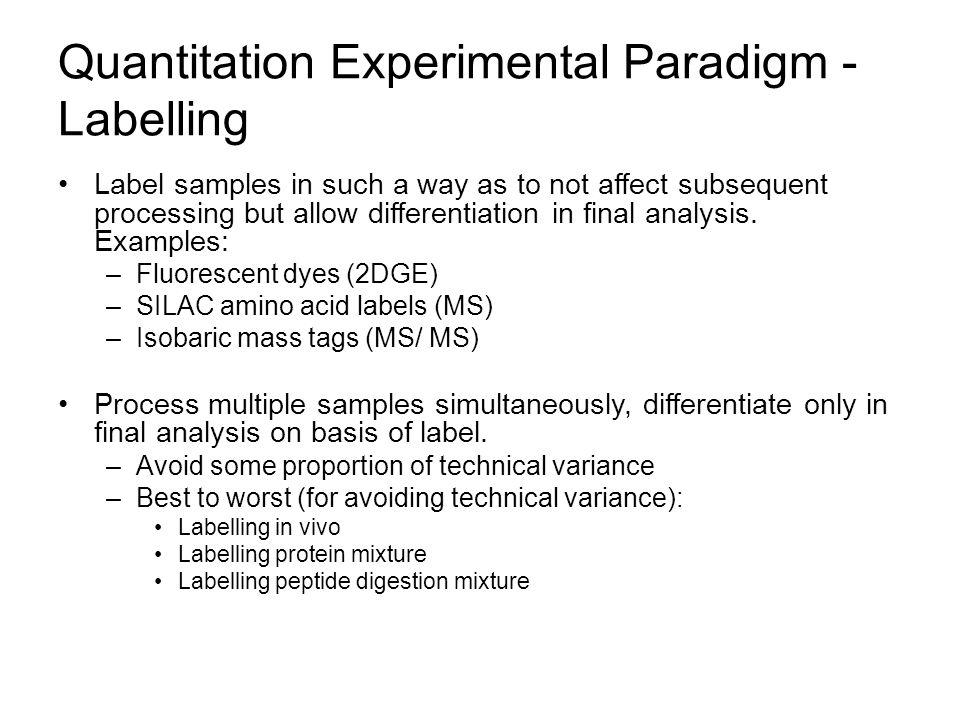 Quantitation Experimental Paradigm - Labelling