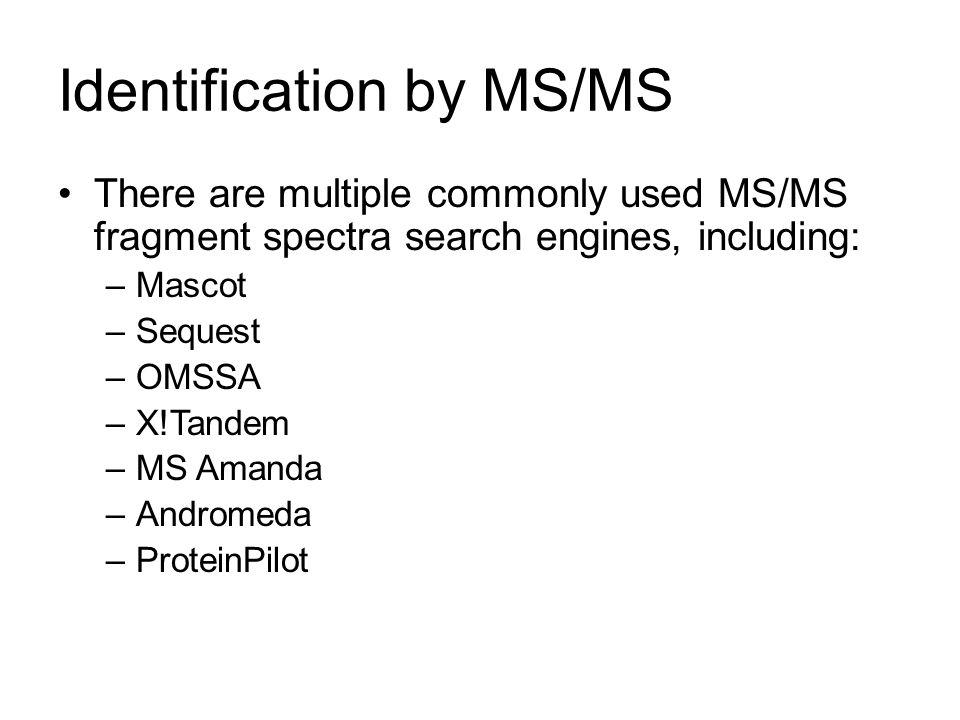 Identification by MS/MS