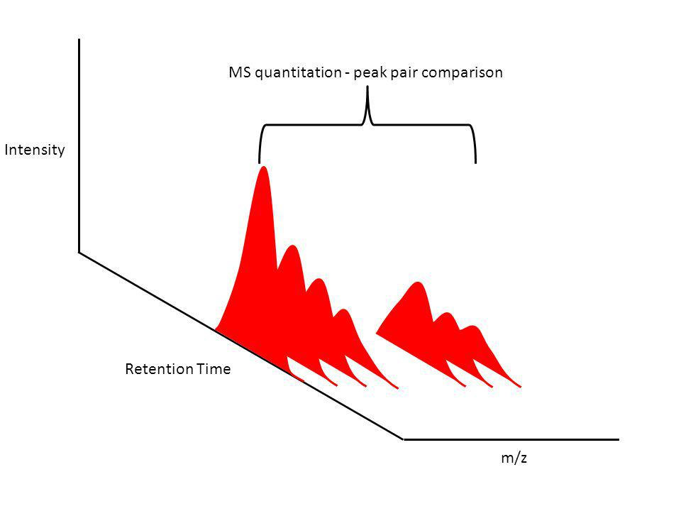MS quantitation - peak pair comparison