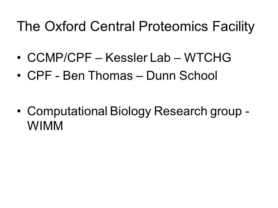The Oxford Central Proteomics Facility