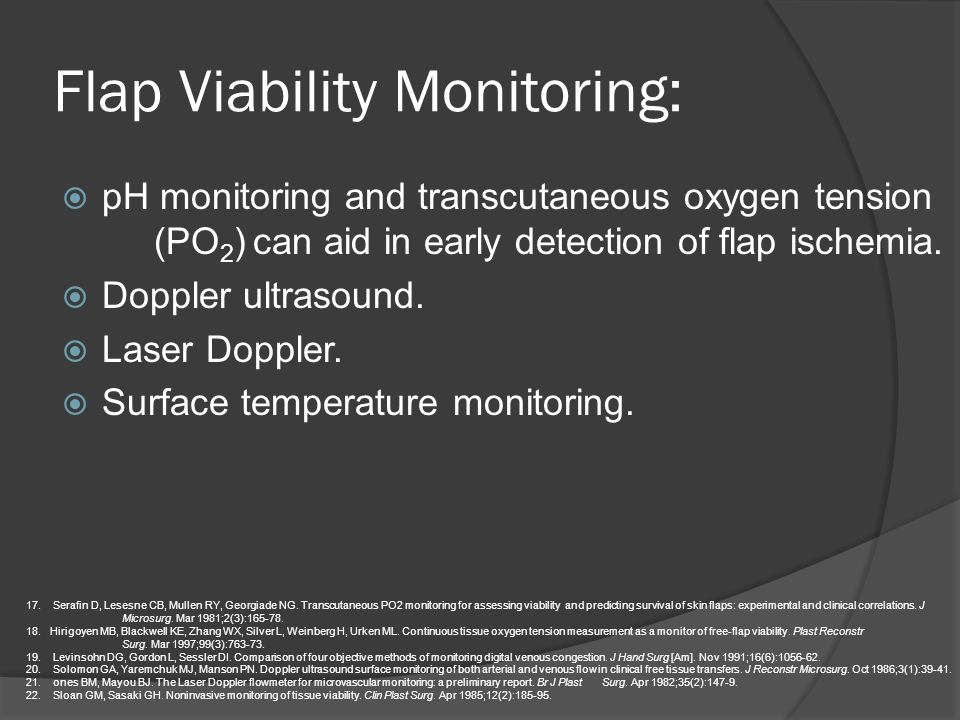 Flap Viability Monitoring: