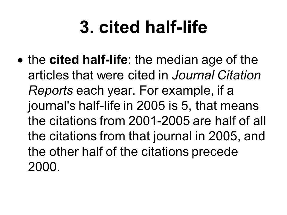 3. cited half-life