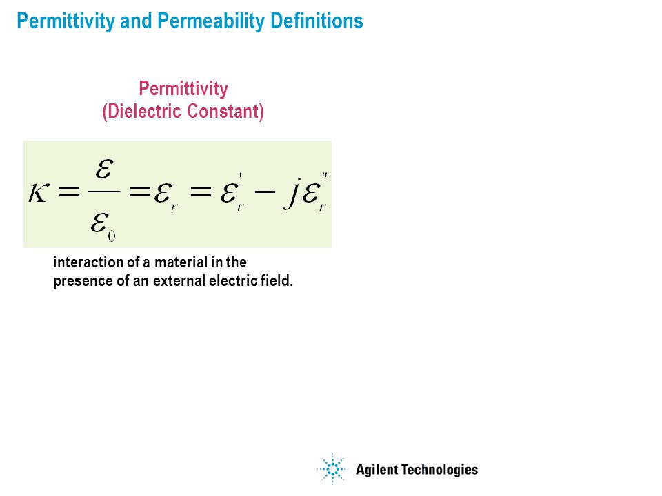 Permittivity and Permeability Definitions