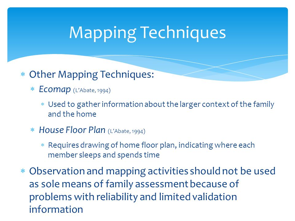Mapping Techniques Other Mapping Techniques: