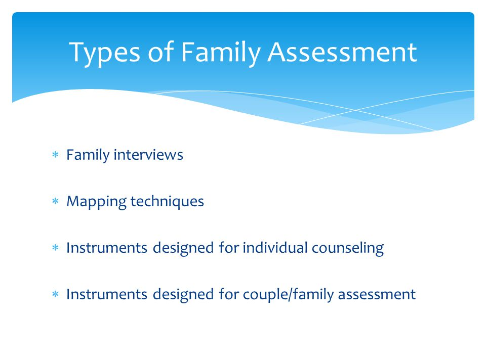 Types of Family Assessment