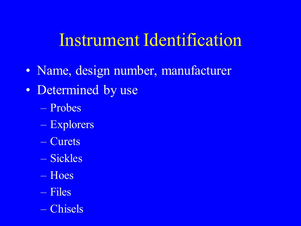 Instrument Identification
