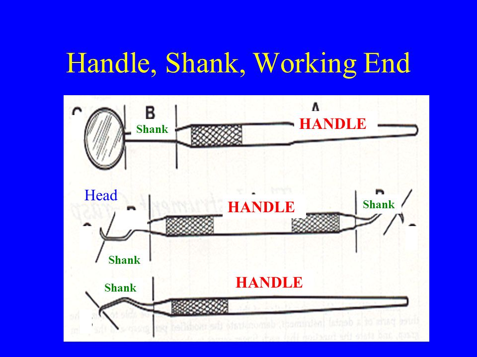 Handle, Shank, Working End