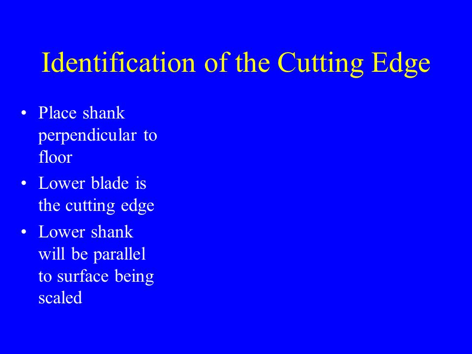 Identification of the Cutting Edge