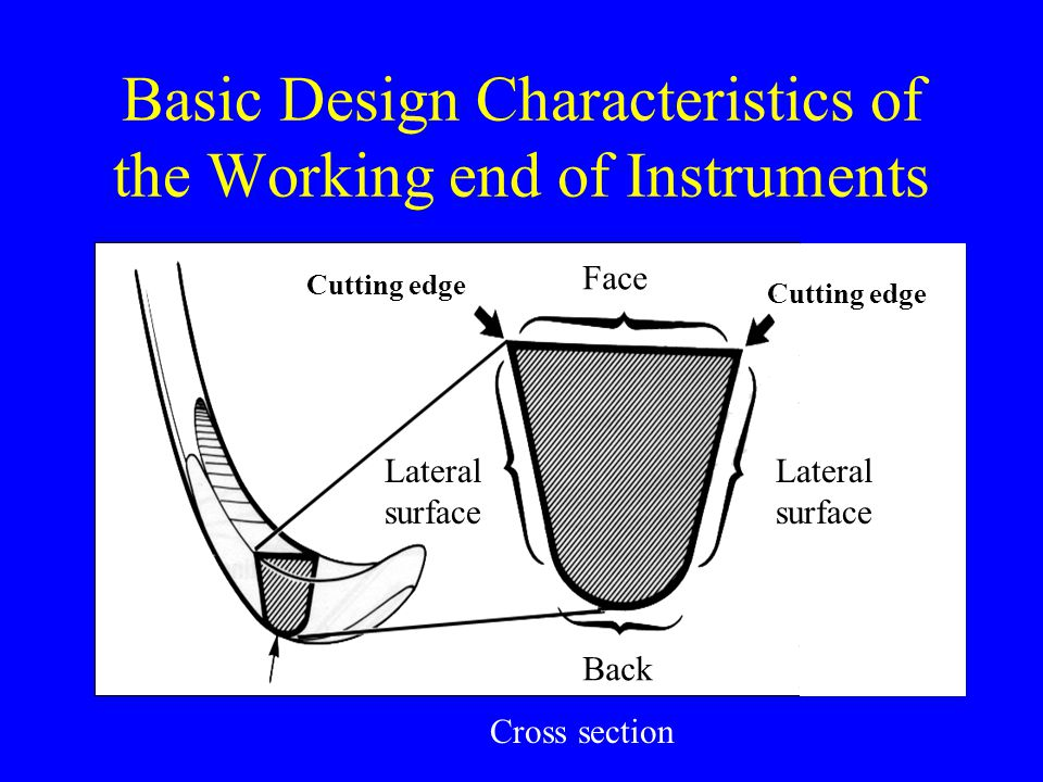 Basic Design Characteristics of the Working end of Instruments