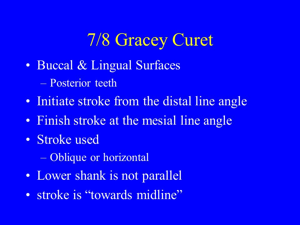7/8 Gracey Curet Buccal & Lingual Surfaces