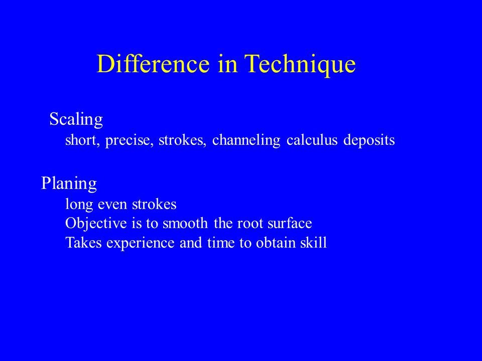 Difference in Technique