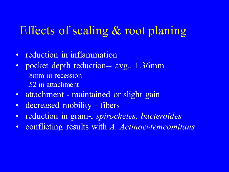 Effects of scaling & root planing