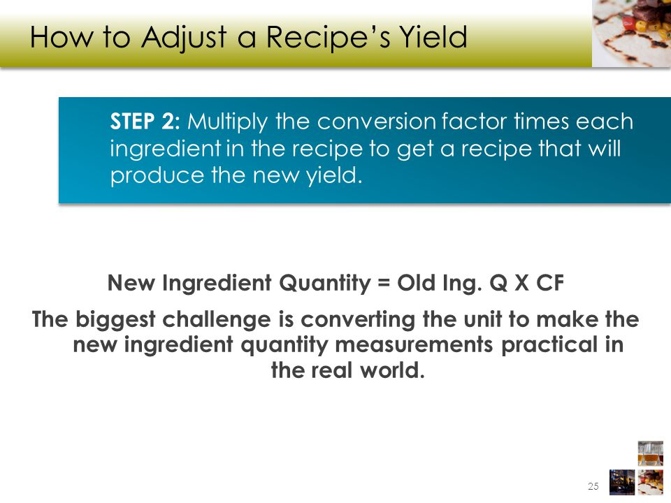 How to Adjust a Recipe's Yield