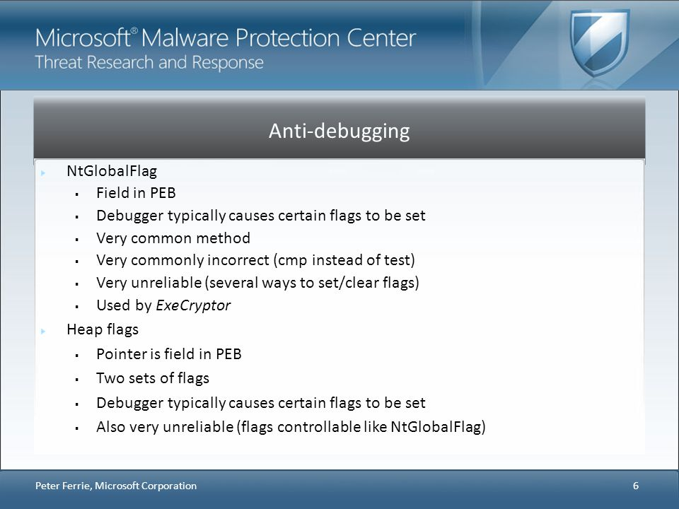 Anti-debugging NtGlobalFlag Field in PEB