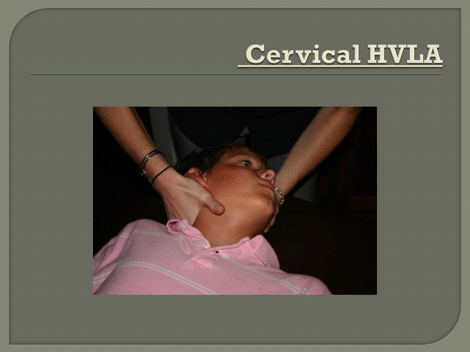 Cervical HVLA