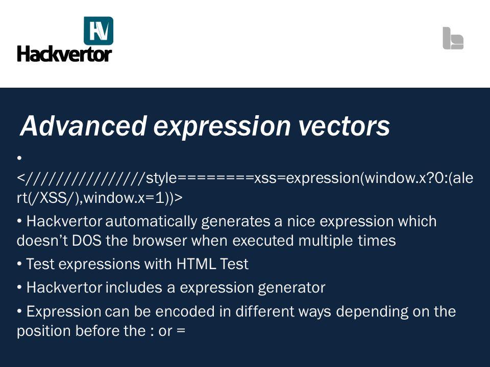 Advanced expression vectors