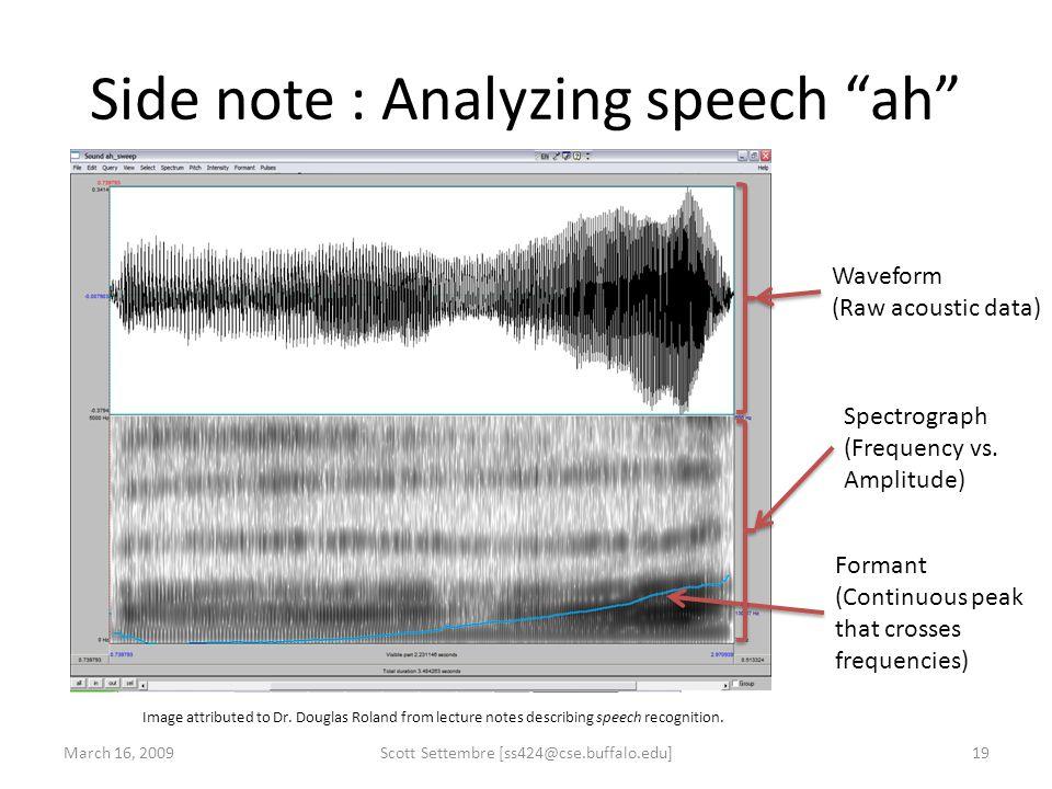 Side note : Analyzing speech ah