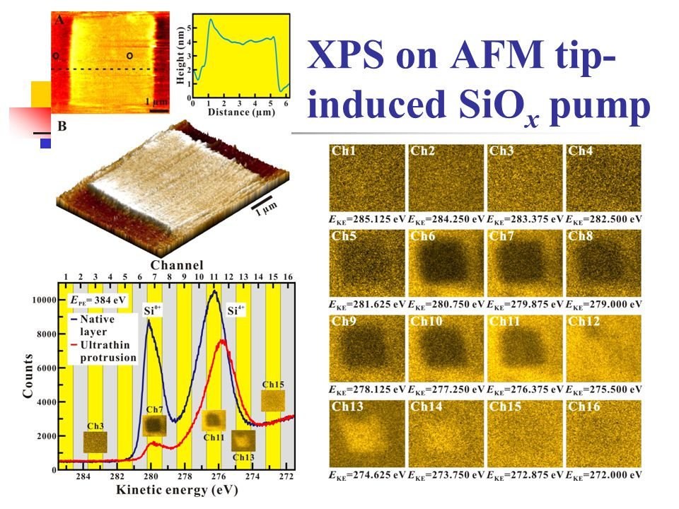 XPS on AFM tip-induced SiOx pump