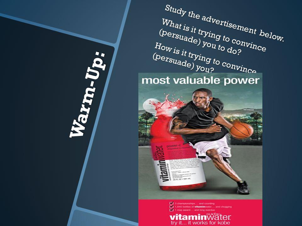 Study the advertisement below