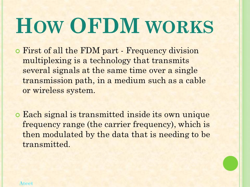 How OFDM works