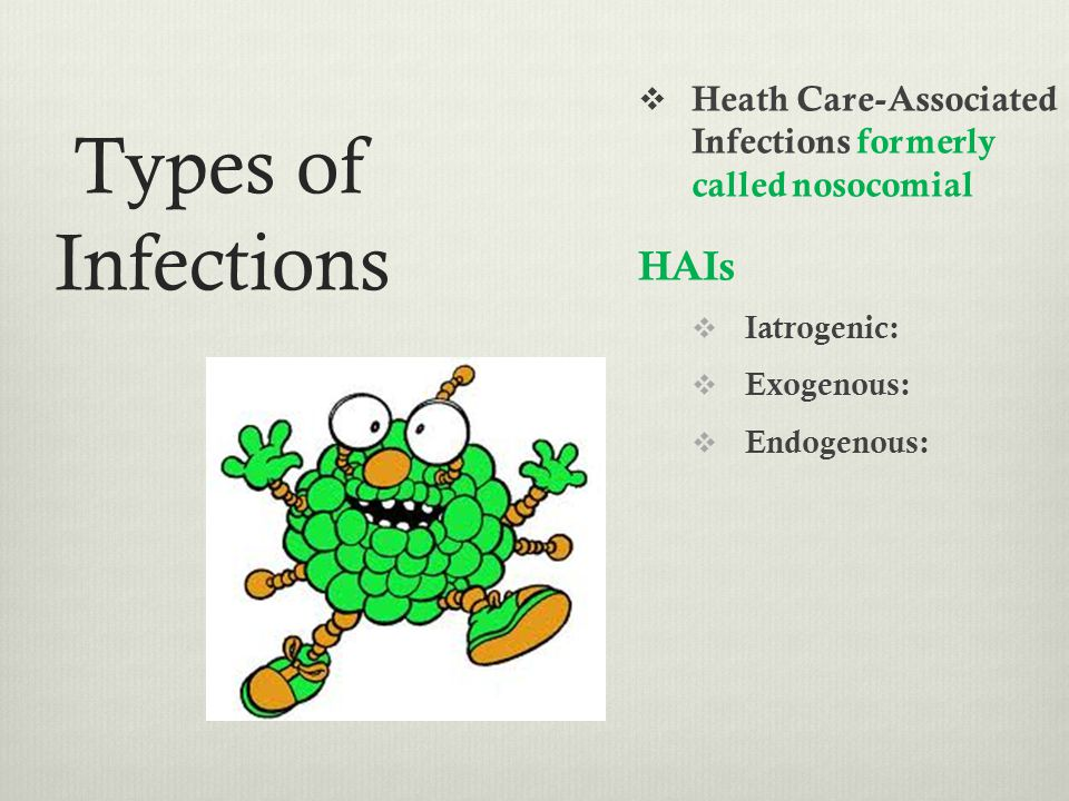 Types of Infections HAIs