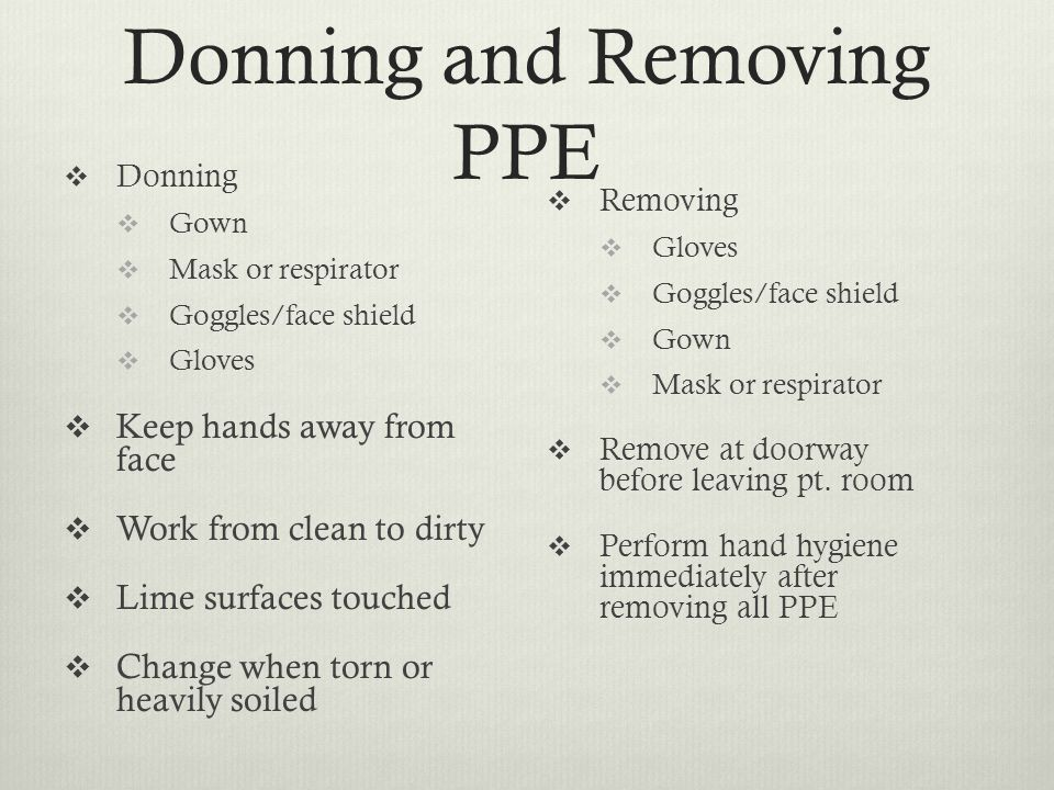 Donning and Removing PPE