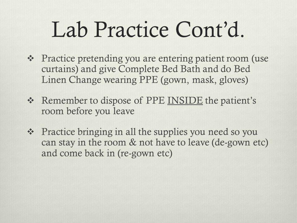 Lab Practice Cont'd.