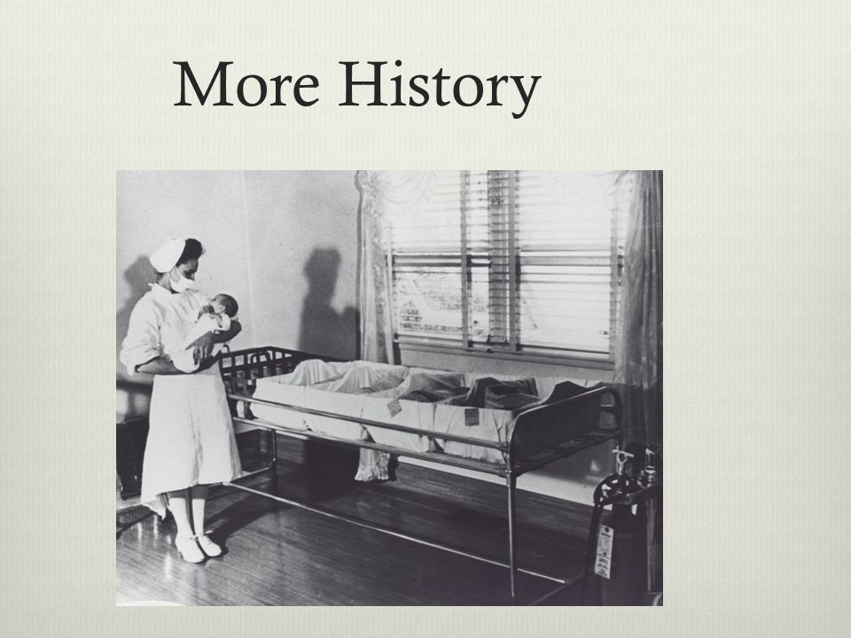 More History 1950s. Post WWII hospital-based outbreaks of Staphylococcus Aureus occur, mostly in newborn nurseries.