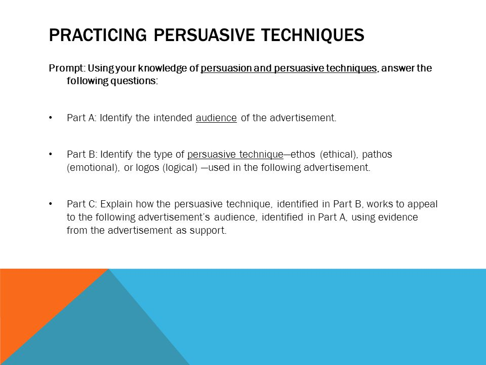 Practicing persuasive techniques