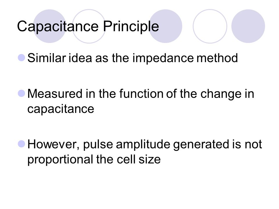 Capacitance Principle