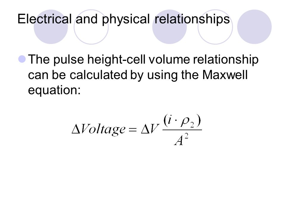 Electrical and physical relationships