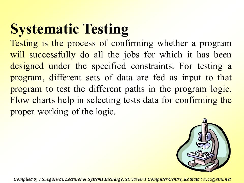 Systematic Testing