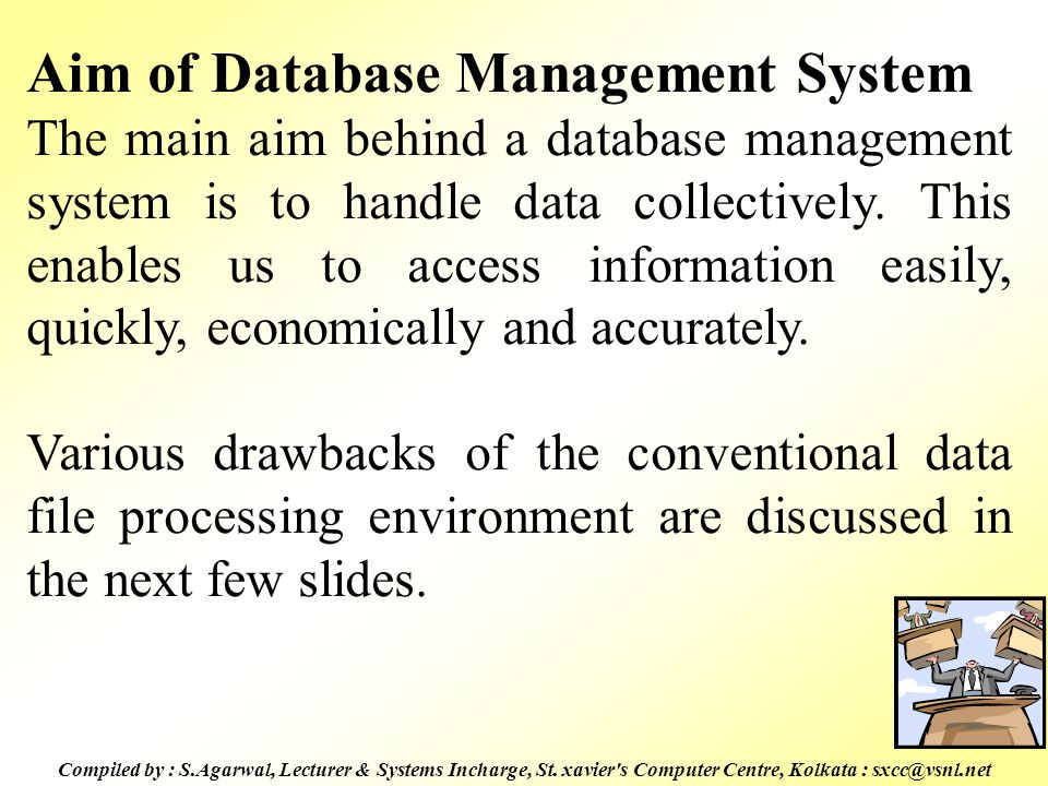 Aim of Database Management System