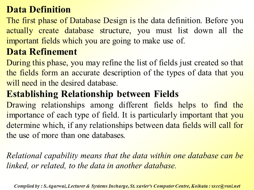 Establishing Relationship between Fields