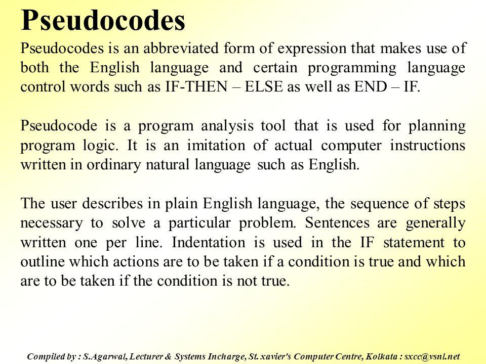 Pseudocodes