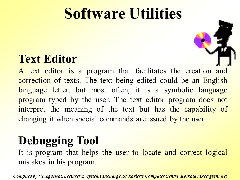 Software Utilities Text Editor Debugging Tool