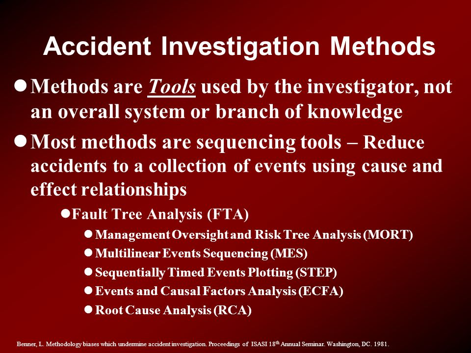 Accident Investigation Methods