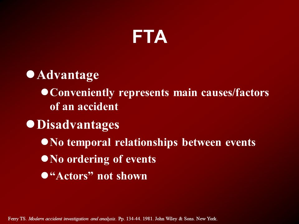 FTA Advantage Disadvantages
