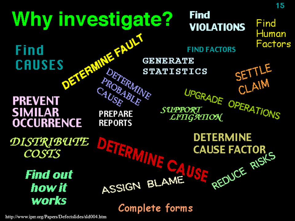 Accident Investigation Techniques and Methodologies - ppt download