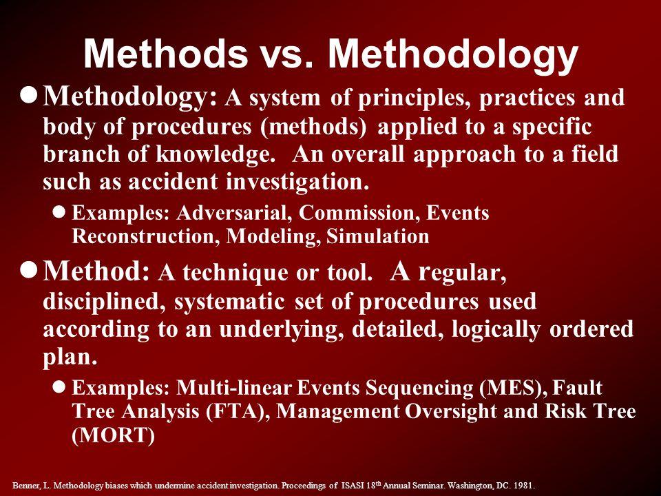 Methods vs. Methodology