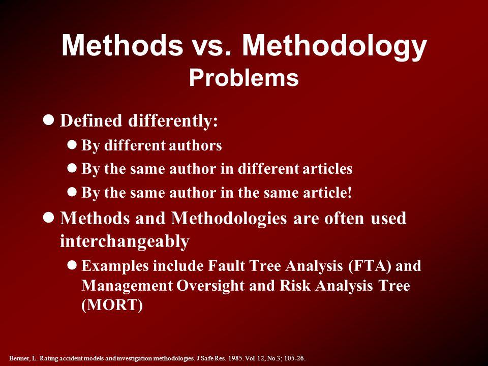 Methods vs. Methodology Problems