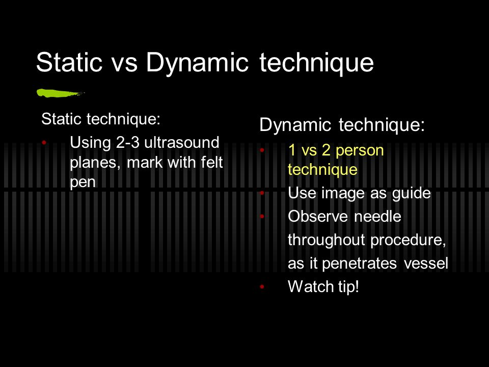 Static vs Dynamic technique