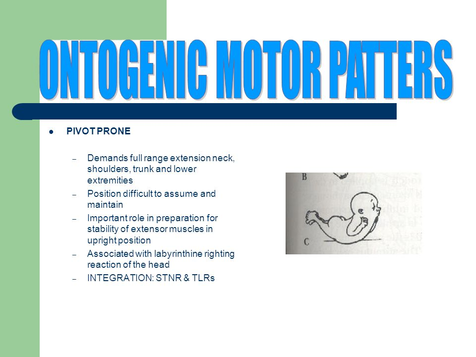 ONTOGENIC MOTOR PATTERS