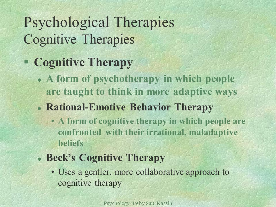 Psychological Therapies Cognitive Therapies