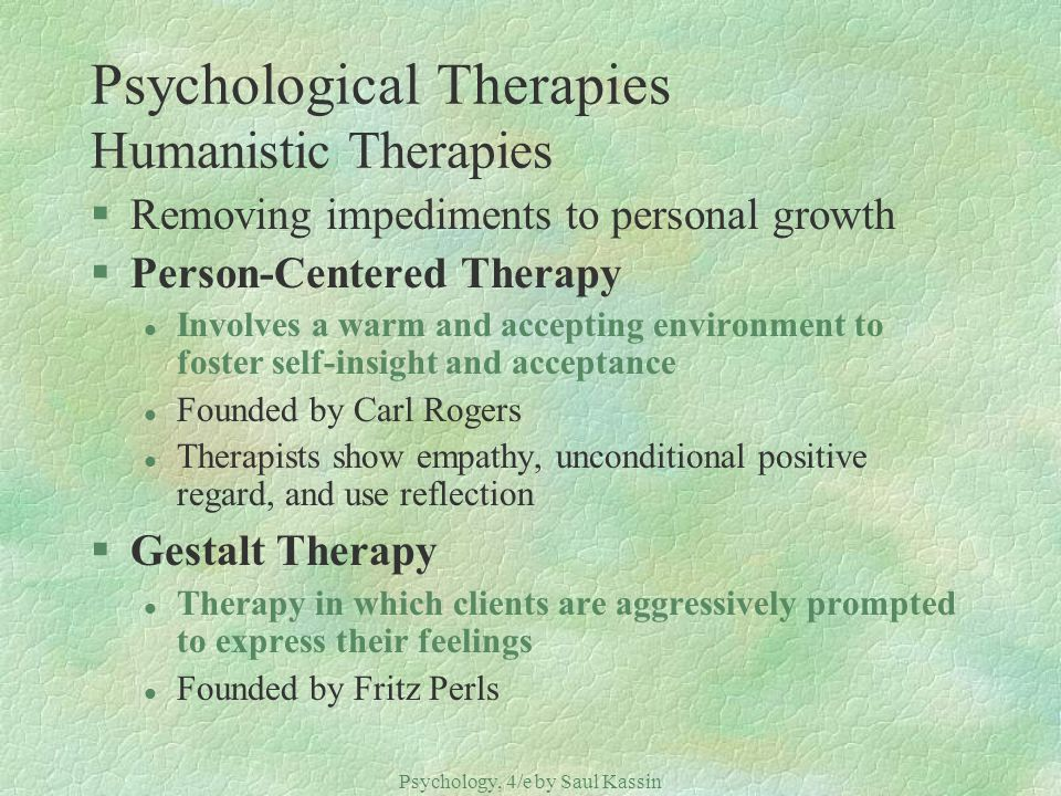 Psychological Therapies Humanistic Therapies