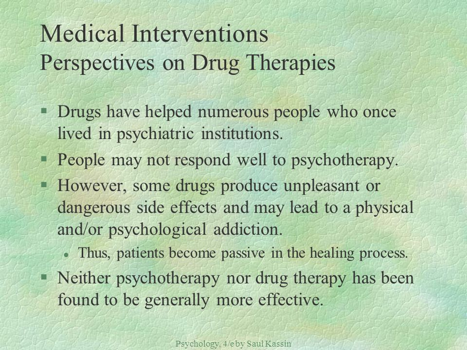 Medical Interventions Perspectives on Drug Therapies